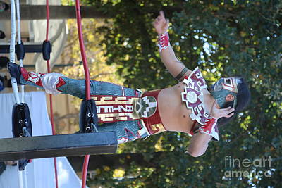Dia De Los Muertos Photograph - Wrestler Day Of Dead  by Chuck Kuhn