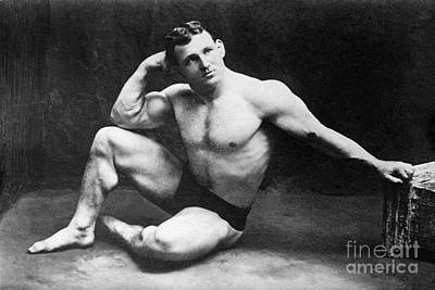 Photograph - Wrestling Champion, C1915.  by Granger