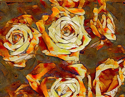 Flowers And Roses Mixed Media - Wretched Beauty by Susan Maxwell Schmidt