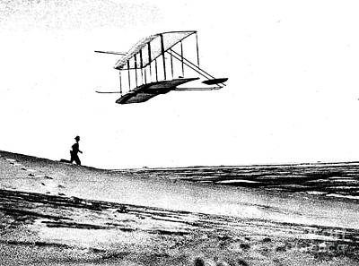 Tate Photograph - Wright Brothers 1902 Glider Litho by Padre Art
