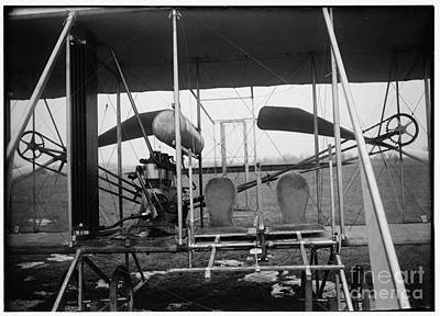 Photograph - Wright Brothers Close Up View Of Airplane Including The Pilot And Passenger Seats by R Muirhead Art