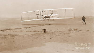 Wright Brothers First Powered Flight Art Print