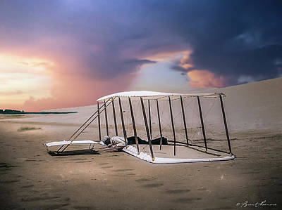 Wright Brothers Glider Art Print by Brent Shavnore