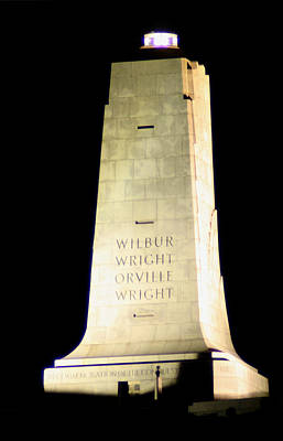 Impressionist Landscapes - Wright Brothers Memorial by Karen Harrison Brown