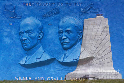 Wright Brothers Memorial Art Print by Randy Steele
