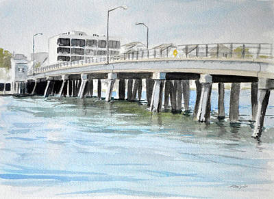 Painting - Wrightsville Beach Bridge by Christopher Reid