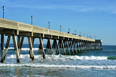 Photograph - Wrightsville Beach Fishing Pier Side View by Sandi OReilly