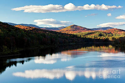 Photograph - Wrightsville Reservoir Autumn Reflections by Alan L Graham