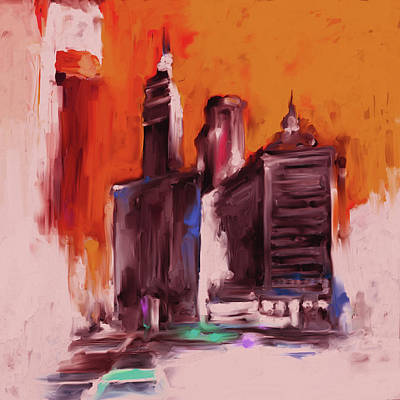 Painting - Wrigley Building 111 532 4 by Mawra Tahreem