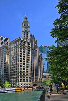 Photograph - Wrigley Building - Chicago by Allen Beatty