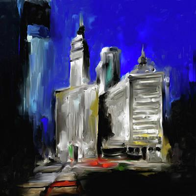 Painting - Wrigley Building II 532 1 by Mawra Tahreem
