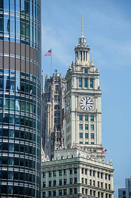 Photograph - Wrigley Clocktower, Wrigley Building, Chicago by Deborah Smolinske
