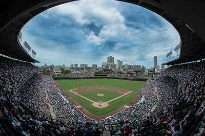 Baseball Royalty-Free and Rights-Managed Images - Wrigley color by Greg Wyatt