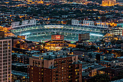 Wrigley Field Photograph - Wrigley Field From Park Place Towers Dsc4678 by Raymond Kunst
