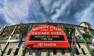 Photograph - Wrigley Field - Home Of The Chicago Cubs # 3  by Allen Beatty