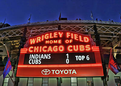 Photograph - Wrigley Field - Home Of The Chicago Cubs by Allen Beatty