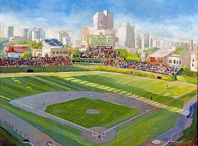 Wrigley Field Painting - Wrigley Field by Steve Lappe