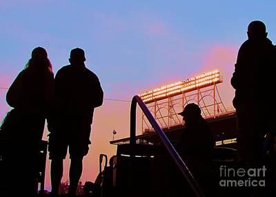 Wrigley Field's Silhouettes Original by Allen Meyer