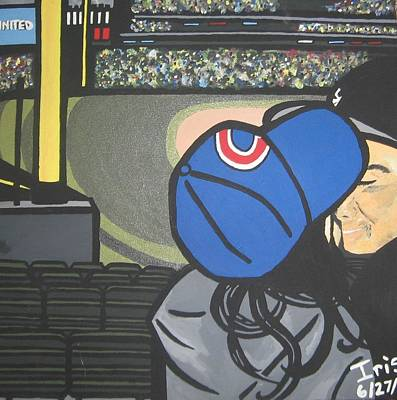 Chicago Cubs Stadium Painting - Wrigleyville by Iris Ray
