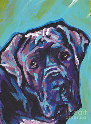 Mastiff Painting - Wrinkly Neo by Lea S