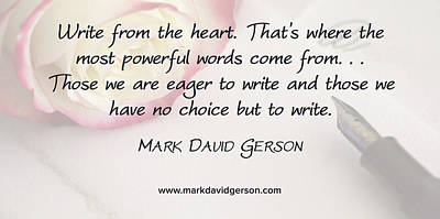 Digital Art - Write From The Heart by Mark David Gerson