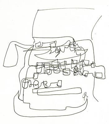 Surrealism Drawing - Writer's Block by Calvin Scott
