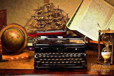 Writer's Nook Art Print by D S Images