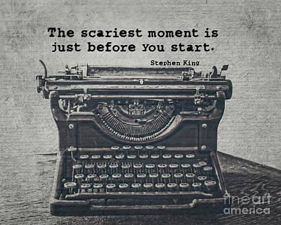 Typewriter Photograph - Writing According To King by Emily Kay