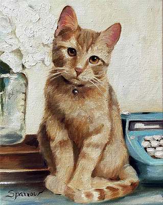 Typewriter Painting - Writing Companion by Mary Sparrow