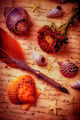 Writing Letter Still Life Art Print by Garry Gay