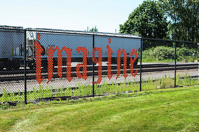 Photograph - Writing On The Fence In Ferndale by Tom Cochran