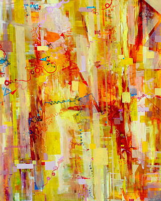 Painting - Written In Particles And Waves by Regina Valluzzi