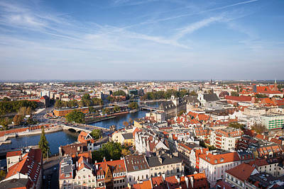 Oder Photograph - Wroclaw Cityscape In Poland by Artur Bogacki