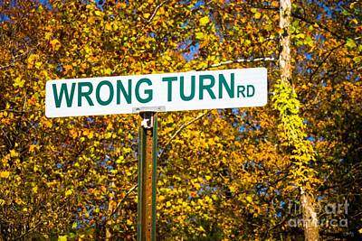 Photograph - Wrong Turn Rd by Imagery by Charly