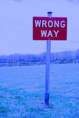 Wrong Way Art Print
