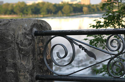 Photograph - Wrought Iron At Niagara Falls by Living Color Photography Lorraine Lynch