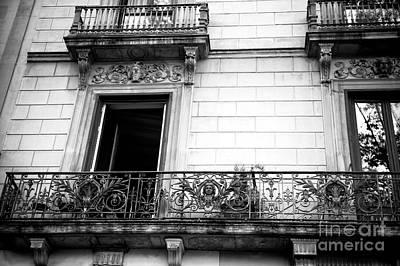 Photograph - Wrought Iron Balcony In Barcelona by John Rizzuto