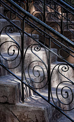Wrought Iron Bannister  Art Print by Robert Ullmann