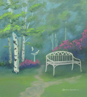 Painting - Wrought Iron Bench by Dominic Sanson