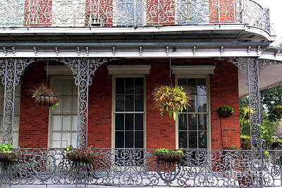 Wrought Iron Design In The French Quarter Art Print