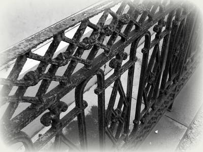 Photograph - Wrought Iron Fence by Beth Vincent