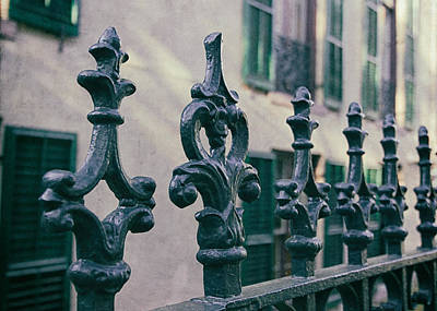 Antique Ironwork Photograph - Wrought Iron Fence by Kim Hojnacki