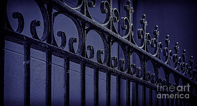 Photograph - Wrought Iron Fence- Nola by Kathleen K Parker