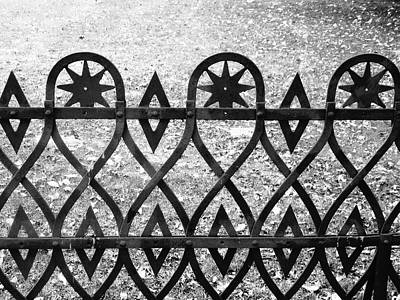 Photograph - Wrought Iron Fence by Stephanie Moore