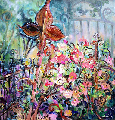 Painting - Wrought Iron Garden by Elaine Cory