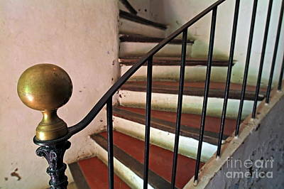 Wrought Iron Handrail Of An Old Staircase Art Print by Sami Sarkis