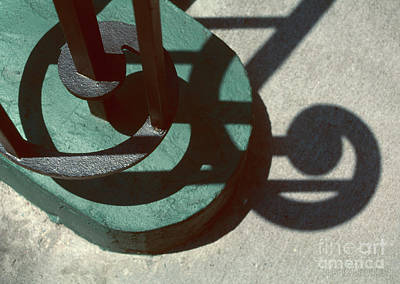 Photograph - wrought iron shadows photographs - More Curlicues by Sharon Hudson