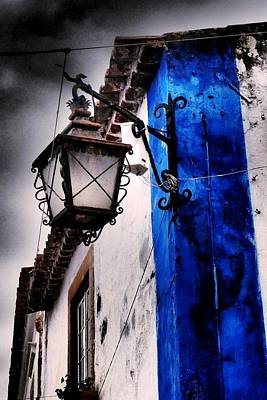Photograph - Wrought Iron Street Light by Dora Hathazi Mendes