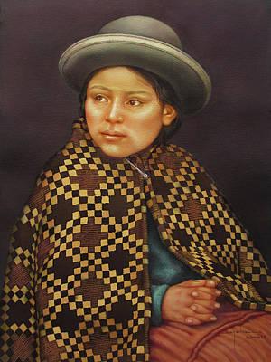 Washington D.c Painting - Ws1979bo013 Eloisa La Paz  14x20 by Alfredo Da Silva