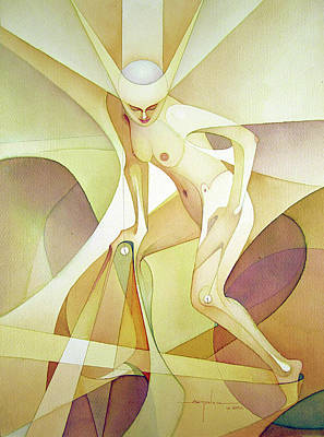 Cosmic Painting - Ws2007dc071ny Lucy 14x19 by Alfredo Da Silva